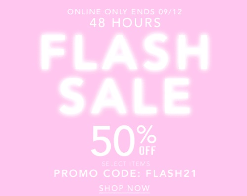 Forever 21 Flash Sale Extra 50% Off Promo Code