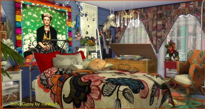My Sims 4 Blog Boho Gypsy Lot by Tanitas8
