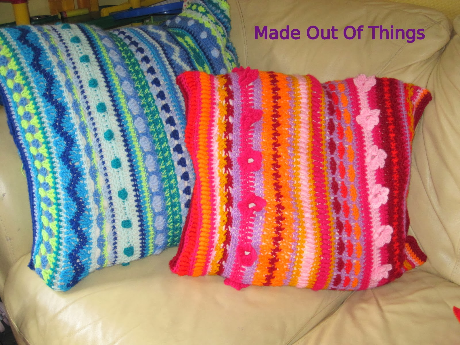 Made Out Things My Mixed Stitch Cushion Cover