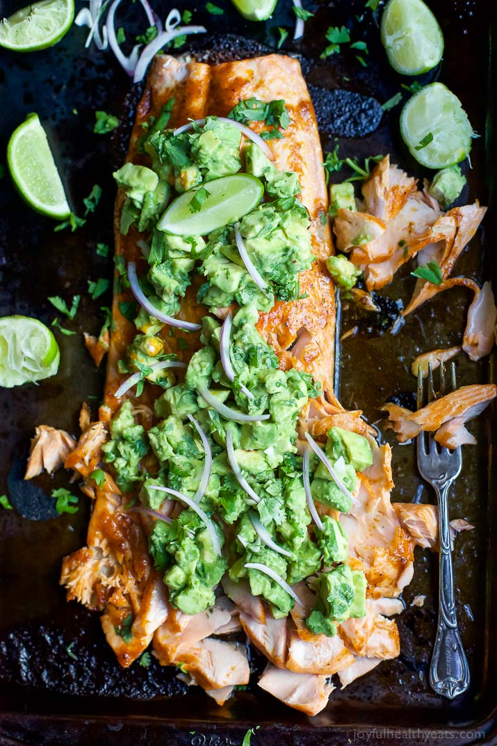 Spice Rubbed Salmon with Avocado Salsa