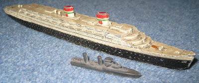Dinky Toy scale model of the Italian liner Rex