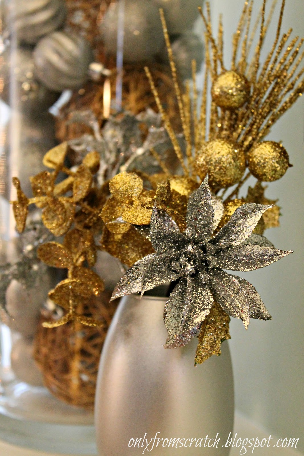 Only From Scratch: Gold & Silver Christmas Mantel