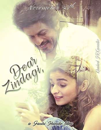 Poster Of Dear Zindagi 2016 Hindi 200MB  HEVC Mobile  Watch Online Free Download world4ufree.org