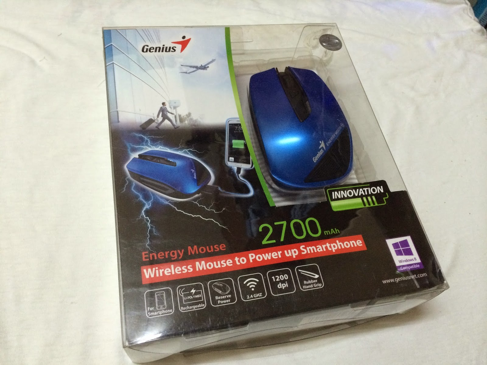 Unboxing Review Genius Energy Mouse Wireless The Comes In A Clear Plastic Box That Allows Us To See Actual Product Prominent Features Of Is