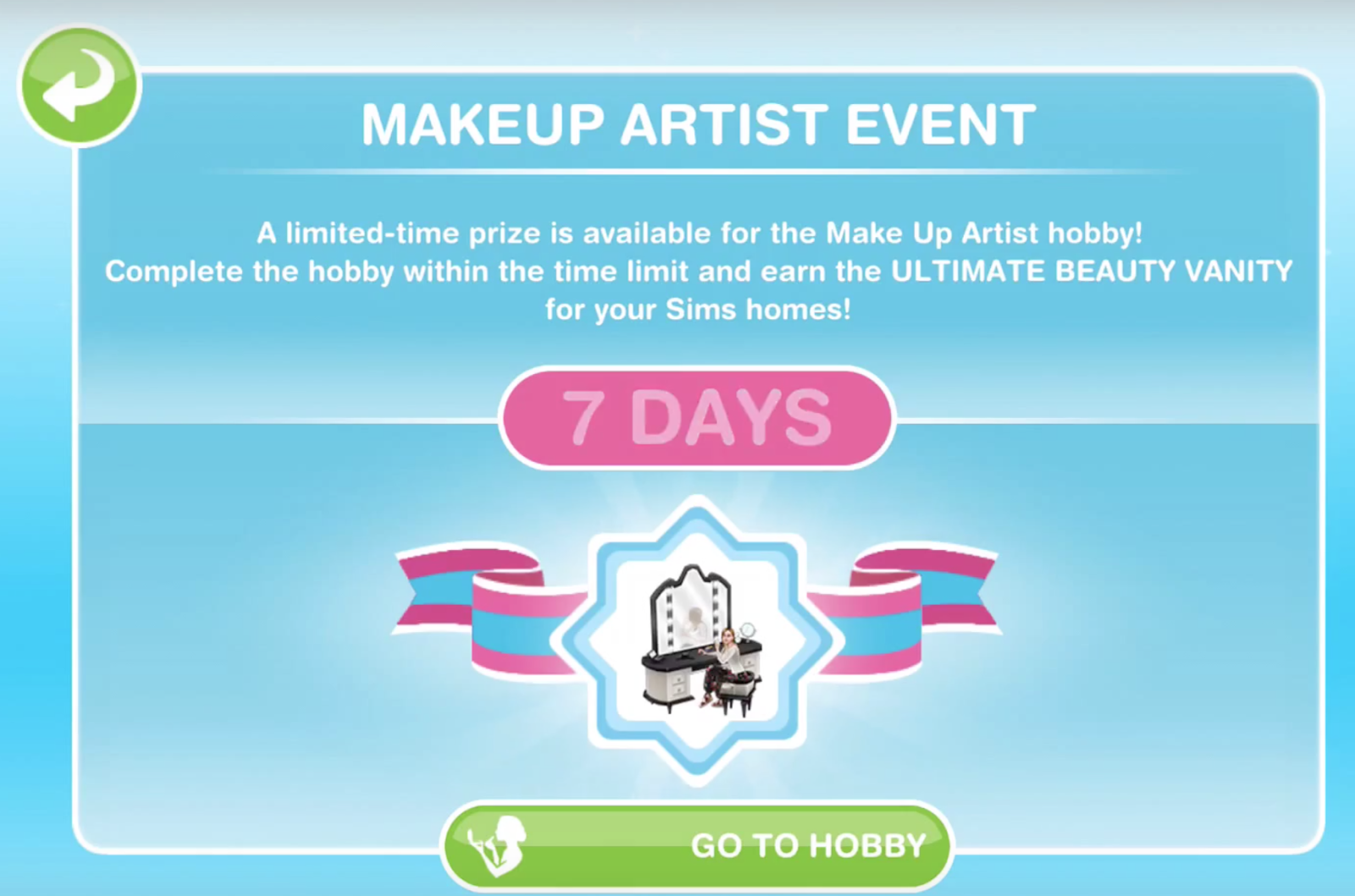 Sims Freeplay Make Up Artist Hobby Glitz And Glam Update Greenoid Gemzicle