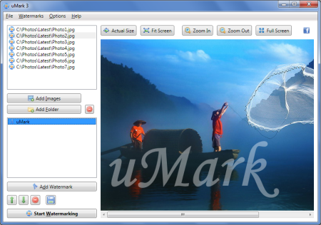 Apply watermarks to hundreds of photos with a single mouse click