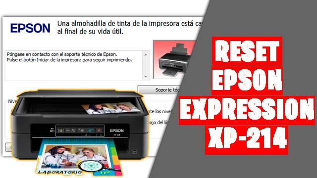 resetear impresora EPSON Expression XP-214