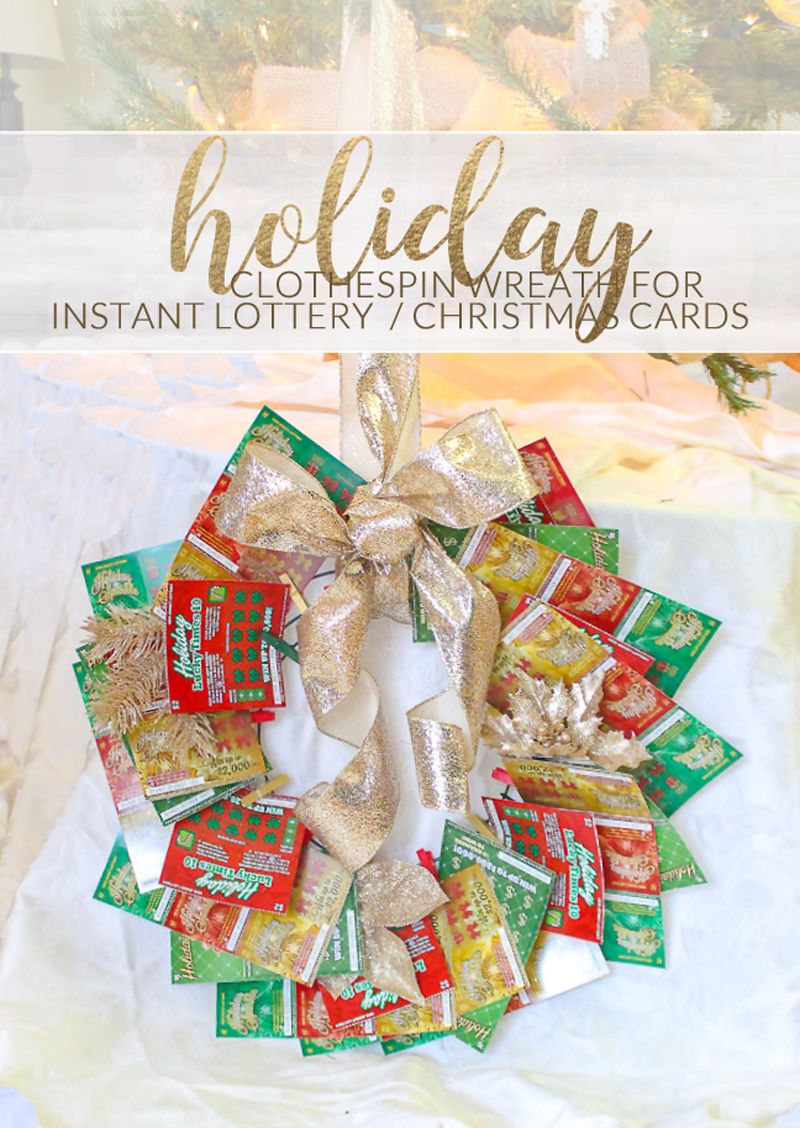 365 Designs: Creative Gift giving: Clothespin Wreath for