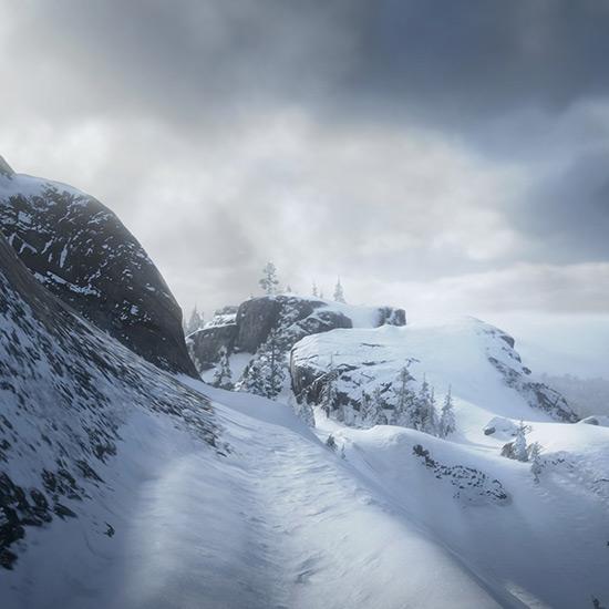 Snow Road 1 Wallpaper Engine