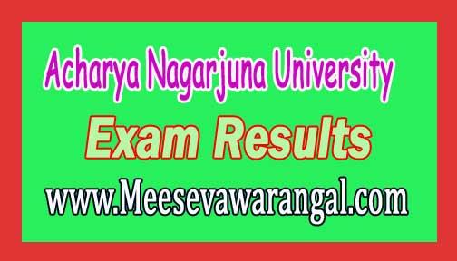 Acharya Nagarjuna Uiversity LLB   2016 Exam Results
