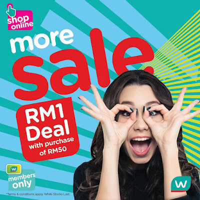 Watsons VIP Members RM1 Deal Minimum Purchase RM50