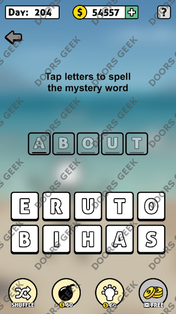 Words Story Day 204 Answer, Cheats, Solution