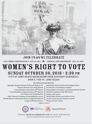 John Malveaux: MusicUNTOLD & Long Beach League of Women Voters will present FREE Celebration of Women s Right to Vote Sun., Oct. 30, 2016, 2:30 PM