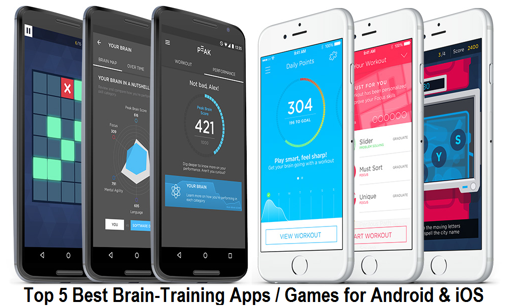 Top 5 Best Brain-Training Apps-Games for Android and iOS