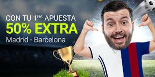 luckia 25 euros extra ganes o pierdas Real Madrid vs Barcelona 30 julio