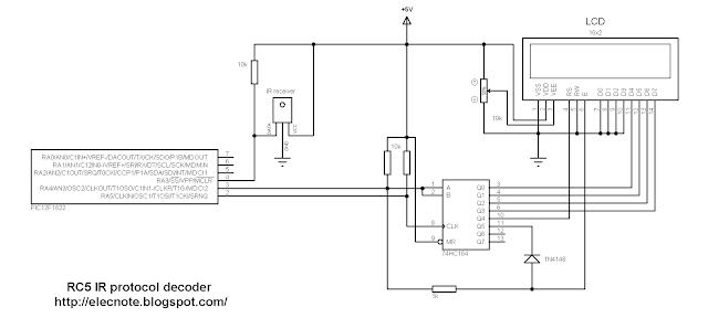 rc-5 remote control protocol decoder pic microcontroller mikroc code