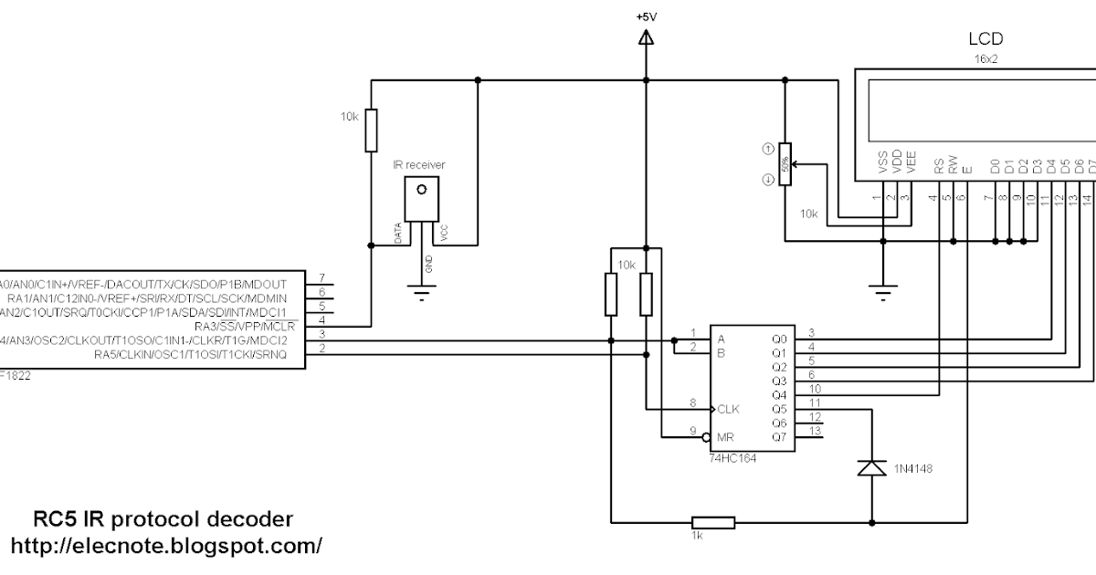 Electronics Note: RC5 IR remote control protocol decoder