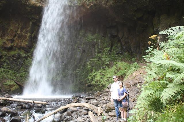 Up close at Latourell Falls in Oregon.