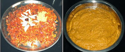 ground masala paste to make Chicken Ghashi