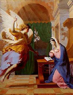 Nomes bíblicos estrangeiros masculinos com G - Imagem: Anunciação de Maria pelo anjo Gabriel - Eustache Le Sueur