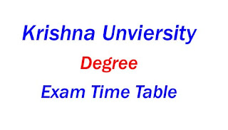 Krishna University Degree Exam Time Table