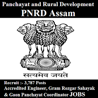 Government of Assam Recruitment, Office of the Commissioner of Panchayat and Rural Development, PNRD Assam, PNRD Assam Admit Card, Admit Card, pnrd logo