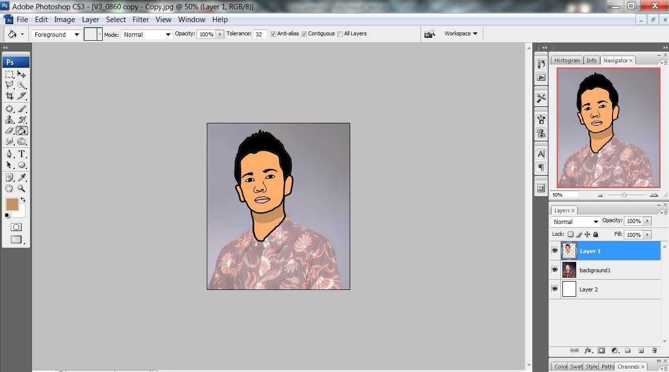 Membuat Foto menjadi kartun menggunakan photoshop: membuat
