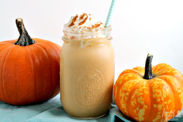 The flavors of pumpkin pie come together perfectly with cookie butter in this creamy & easy to make Pumpkin Pie Cookie Butter Smoothie.