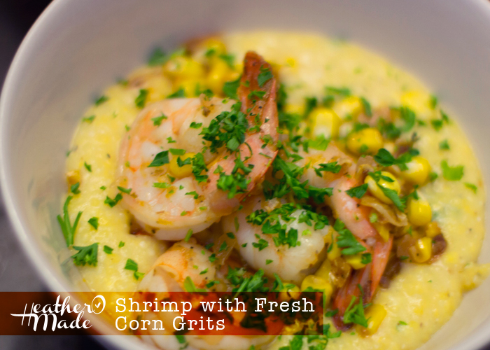 shrimp and fresh corn grits