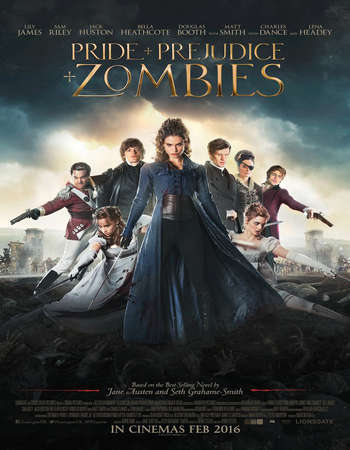 Poster Of Pride and Prejudice and Zombies 2016 English 300MB HCHDRip 480p Free Download Watch Online