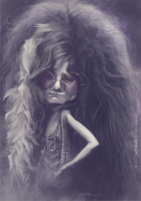 """""""Janis Joplin"""" por Jeff Stahl"""