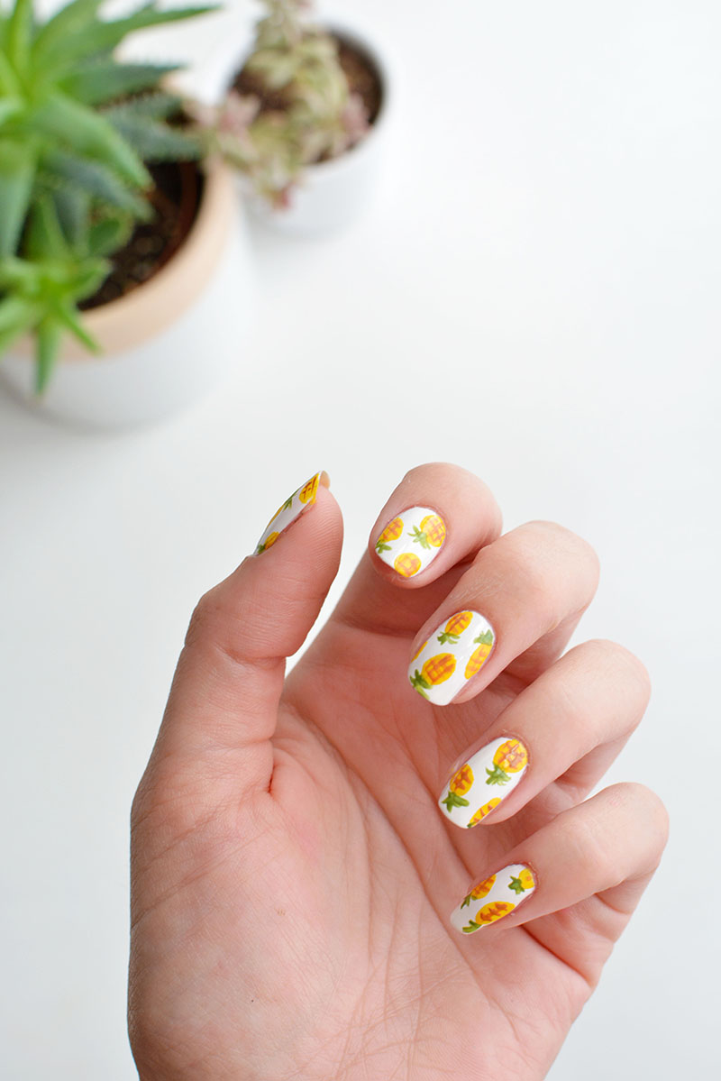 nails | pineapple nail art | BURKATRON