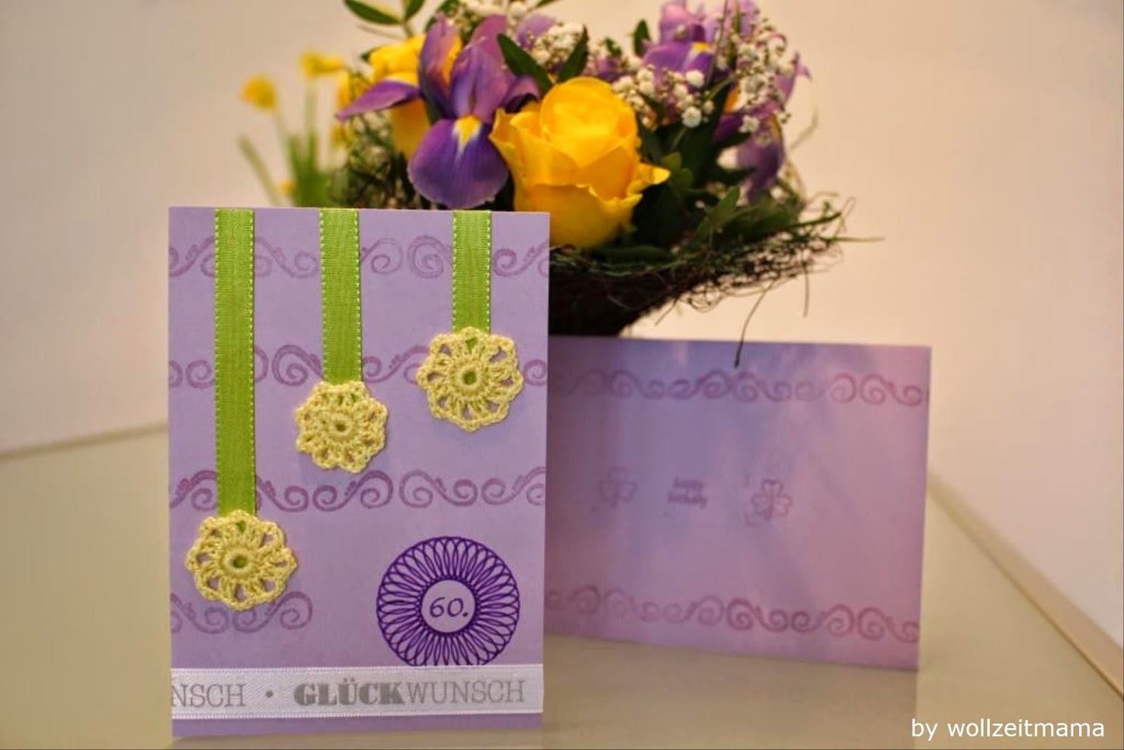 Atemberaubend Wollzeitmama: Geburtstagskarte selber basteln und häkeln @HV_59