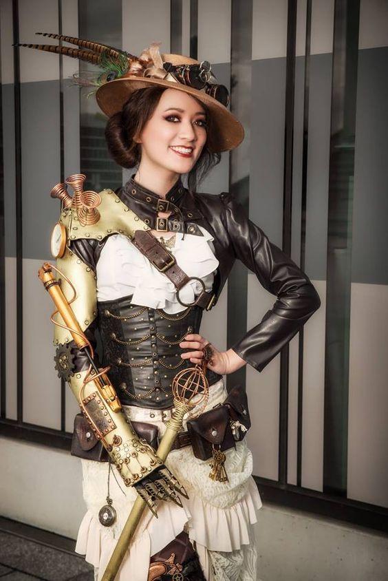 Steampunk Fashion Guide Mechanical Armed Steamgirl