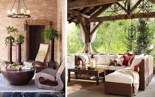Marzua c mo decorar terrazas amplias y porches - Porches de jardin ...