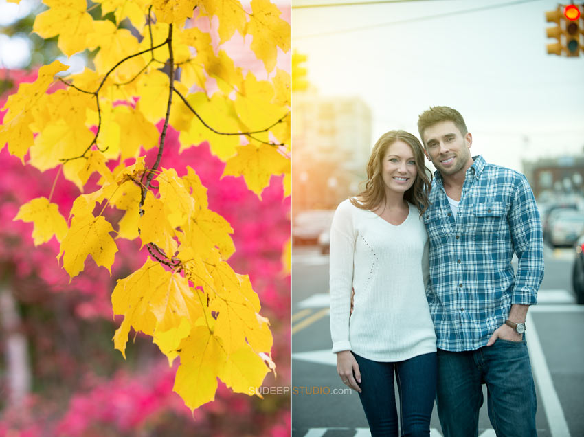 Fall Sunset Engagement Pictures Royal Oak Editorial Styles - Sudeep Studio.com Ann Arbor