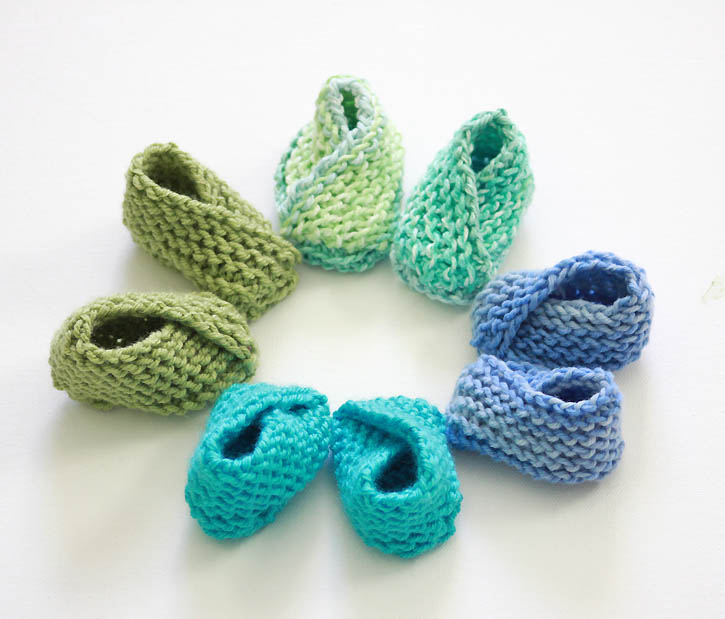 Knitting Pattern for the Easiest Baby Booties Ever by Gina Michele