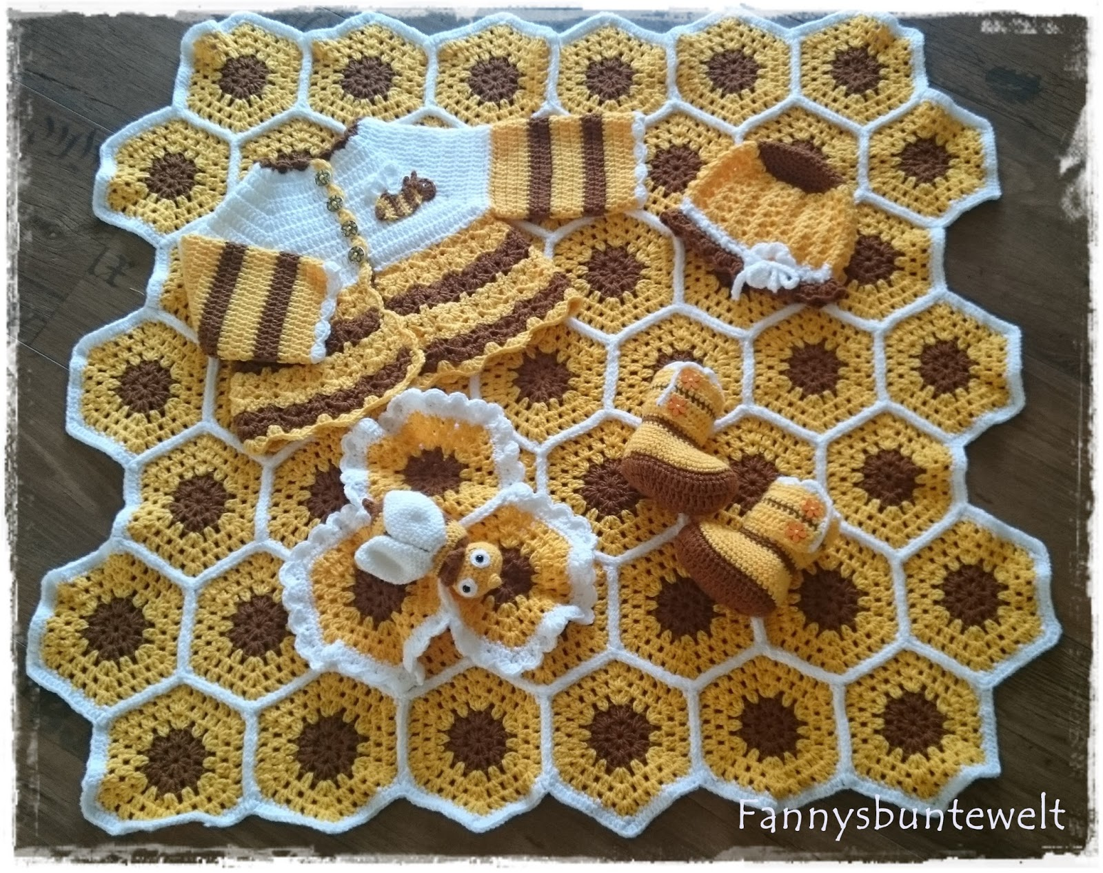 Fannysbuntewelt Babyset Thema Biene
