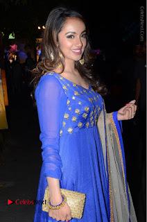 Telugu Actress Tejaswi Madivada Pos in Blue Long Dress at Nanna Nenu Na Boyfriends Audio Launch  0051.JPG