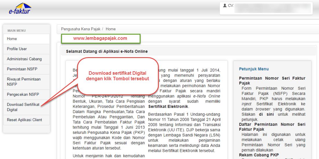 Cara Install Sertifikat Digital Efaktur Laporan Pajak Online