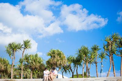 沖縄旅行 家族写真