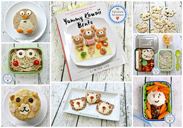 My Epicurean Adventures: Yummy Kawaii Bento Book Review #lunchboxfun #lunchboxideas