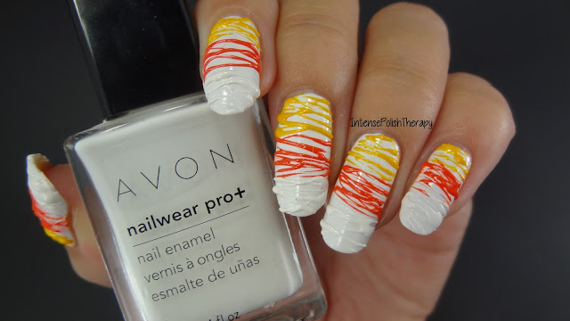 3D Candy Corn Stripes | Halloweenicure
