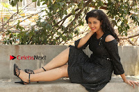 Telugu Actress Pavani Latest Pos in Black Short Dress at Smile Pictures Production No 1 Movie Opening  0100.JPG