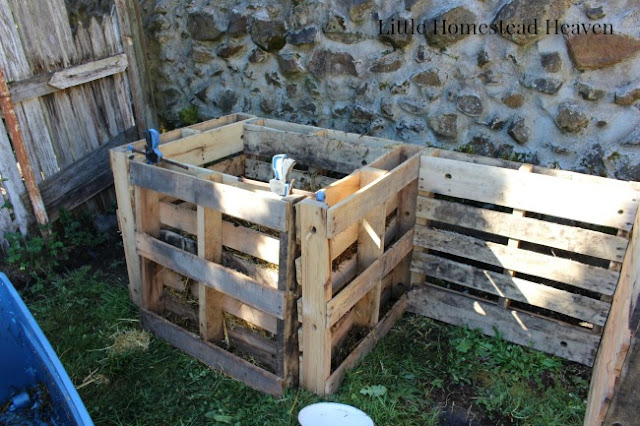 Our open concept compost bin for easy access and maintenance.