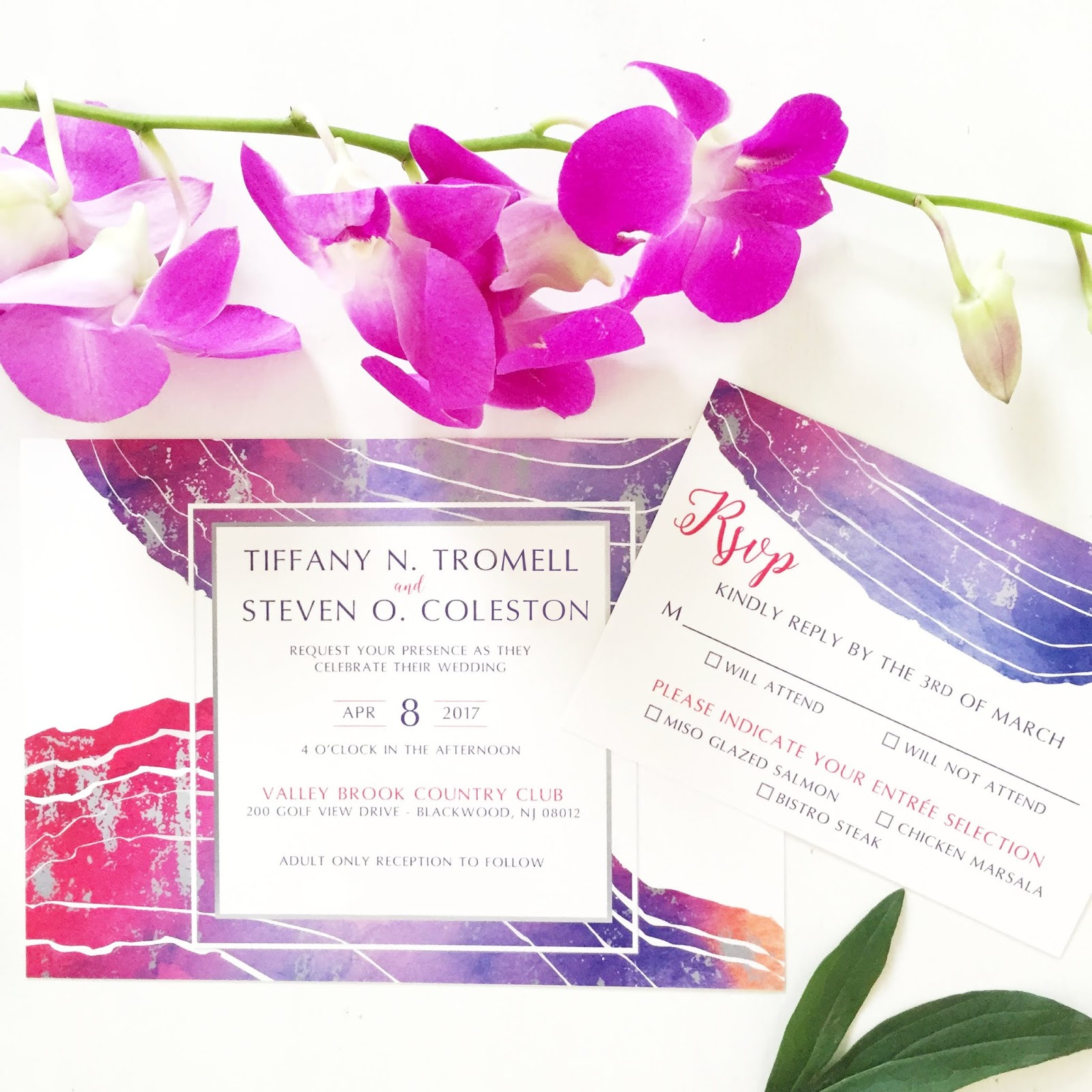 Bushel & Peck Paper: NJ Glam Wedding