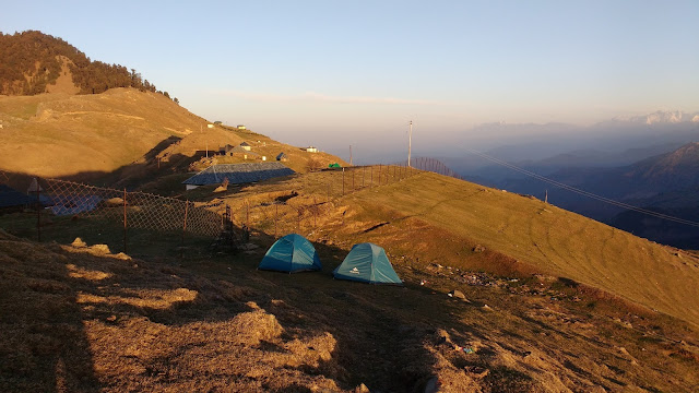Camps at Prashar Lake