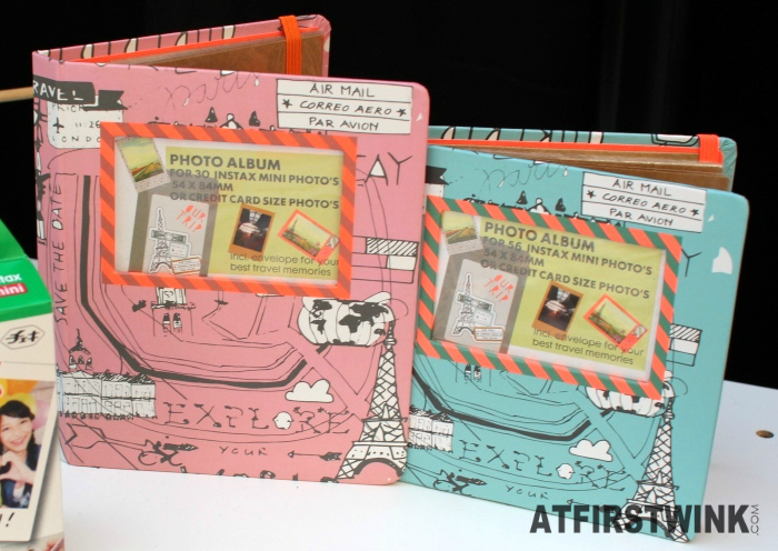 Cute travel-themed HEMA instax mini photo albums