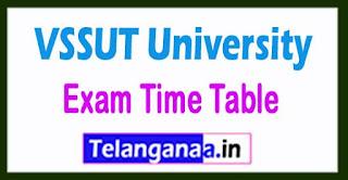 VSSUT University Exam Time Table 2017 MTech/BTech/MCA/Ph.D Semester Exam Time Table