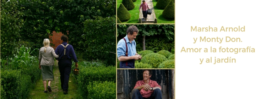 Monty y Sarah Don en su jardín de Longmeadow